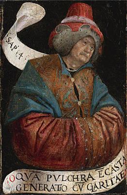 Defendente Ferrari Painting - King Solomon by Defendente Ferrari