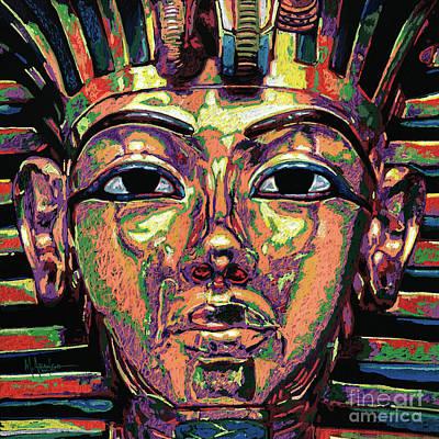 Painting - King Tutankhamun Death Mask by Maria Arango