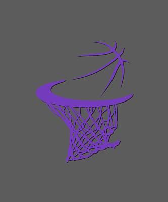 Sweat Photograph - Kings Basketball Hoop by Joe Hamilton
