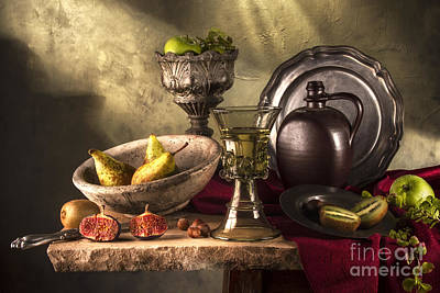 Kings Goblet And Fruits Print by Jon Wild