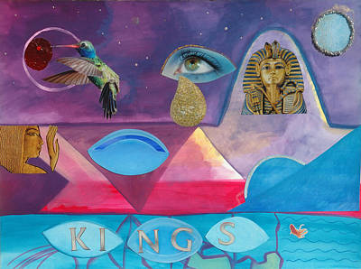 Tut Mixed Media - Kings by Laura Joan Levine