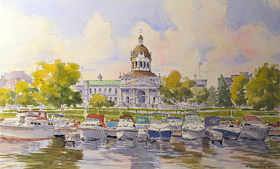 Kingston City Hall And Harbour Print by David Gilmore