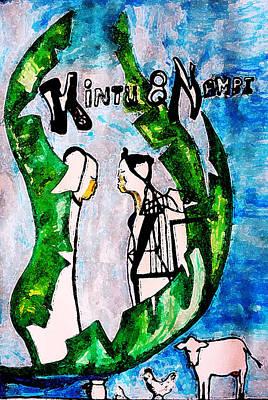 Gloria Mixed Media - Kintu And Nambi Poster by Gloria Ssali