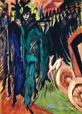Kirchner: Street Scene Print by Granger