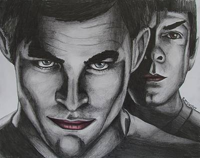 Kirk And Spock Print by Eric McGreevy