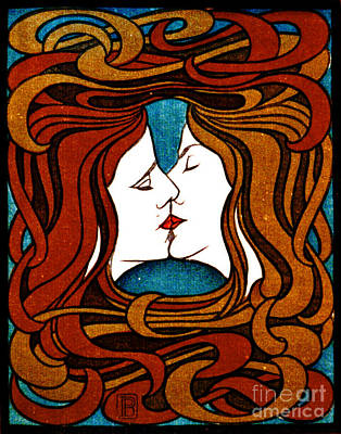 Photograph - Kiss 1898 by Padre Art