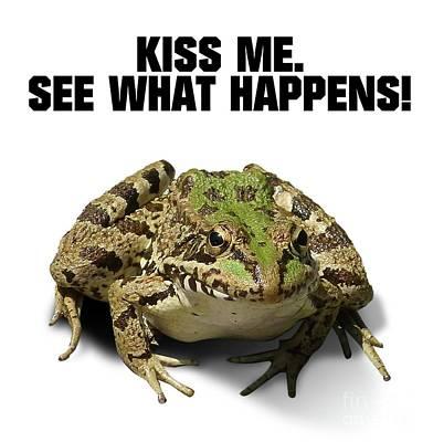 Boobies Digital Art - Kiss Me. See What Happens by Esoterica Art Agency