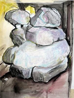 Kissing Rocks Print by Jane Clatworthy