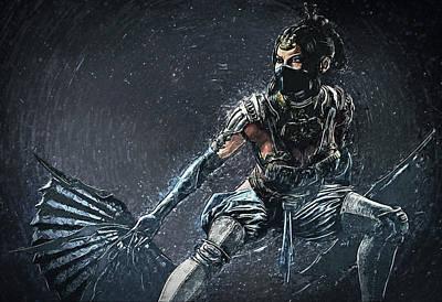 Poster Digital Art - Kitana - Mortal Kombat by Taylan Soyturk