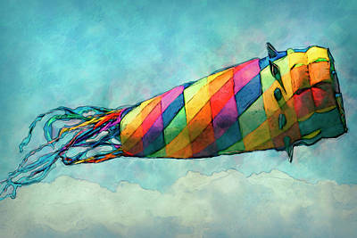 Airliners Painting - Kite by Jack Zulli