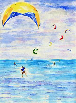 Wind Surfing Painting - Kite Surfer by Jamie Frier