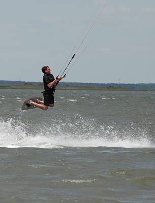 Kite Surfing 31 Print by Joyce StJames