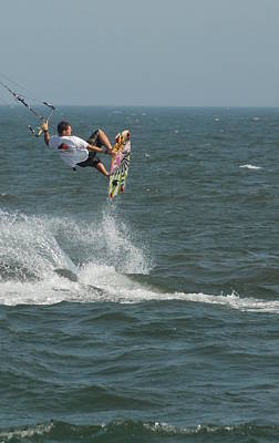 Kite Surfing 8 Print by Joyce StJames
