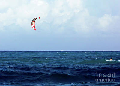 Photograph - Kite Surfing  by D Hackett