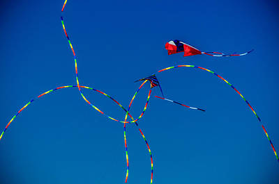 Kite Tails Print by Gene Camarco