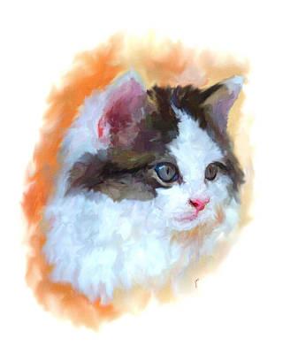Kitten Painting - Kitten Portrait by Jai Johnson