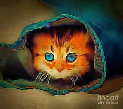 Kitty Britches Print by Catherine Lott