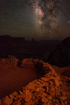 Night Workshop Photograph - Kiva Ring View by Mike Berenson