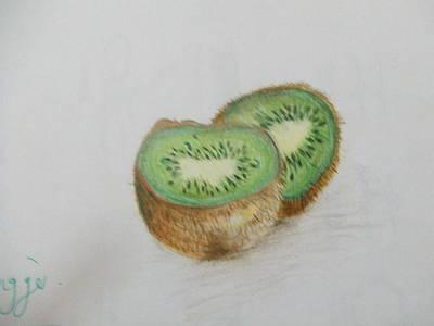 Kiwi Drawing - Kiwi by Rihab Nasser
