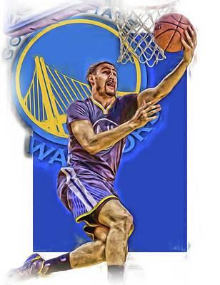 Klay Thompson Golden State Warriors Oil Art Print by Joe Hamilton