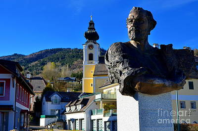 Klimt-bust In Unterach Austria Original by Elzbieta Fazel