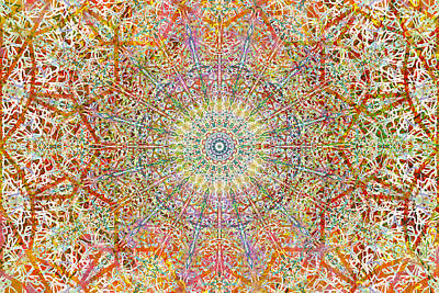 Mandala Painting - Klink Klank Curved And Straight by John Groves