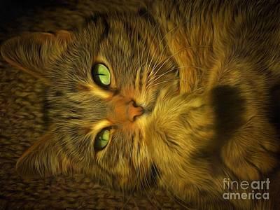 Green Eyes Photograph - Kloee by Krissy Katsimbras