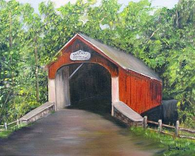 Covered Bridge Painting - Knechts Covered Bridge by Loretta Luglio