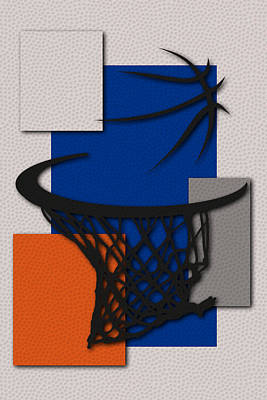Knicks Hoop Print by Joe Hamilton