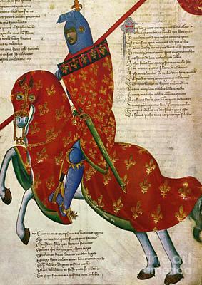 Fleur De Lis Photograph - Knight, 14th Century by Granger