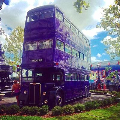 Wizard Photograph - The Knight Bus by Kate Arsenault