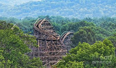 Knobels Wooden Roller Coaster  Print by Paul Ward