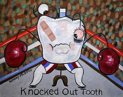 Teeth Mixed Media - Knocked Out Tooth by Anthony Falbo