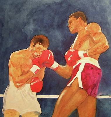 Sports Painting - Knockout Punch by Nigel Wynter