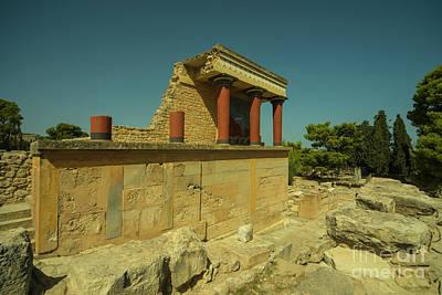 Minotaur Photograph - Knossos Palace  by Rob Hawkins