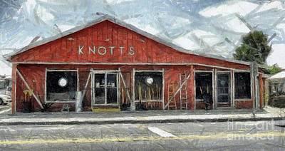 Knott's Hardware Print by Murphy Elliott