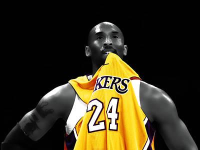 Magic Johnson Digital Art - Kobe Bryant 04c by Brian Reaves