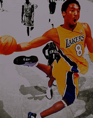 Kobe Bryant Taking Flight 3a Print by Brian Reaves