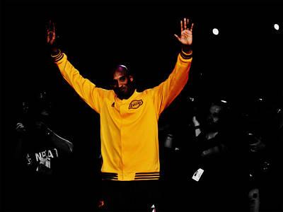 Magic Johnson Mixed Media - Kobe Bryant Thanks For The Memories by Brian Reaves