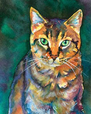 Animal Shelter Painting - Kodi by Christy Freeman