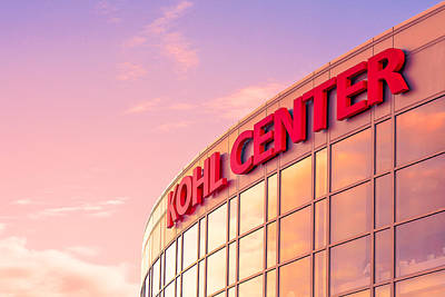 Volleyball Photograph - Kohl Center Illuminated by Todd Klassy