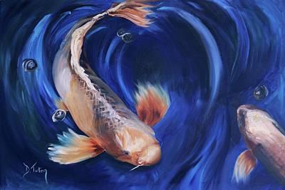Animal Painting - Koi by Donna Tuten