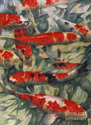 Goldfish Painting - Koi Karp by Gareth Lloyd Ball