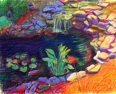 Koi Drawing - Koi Pond by David Dozier