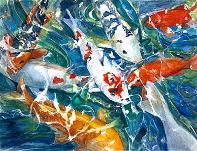 Koi Sparkle Print by Patricia Allingham Carlson