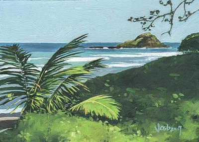 Haleiwa Painting - Koki Beach And Alau Island Hana by Stacy Vosberg