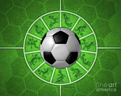 Kicking Digital Art - Kokopelli Soccer by Chris Rhynas