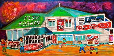 Kosy Korner Community Plage Laval Original by Michael Litvack