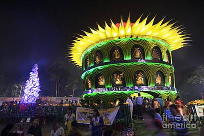 Goddess Durga Photograph - Kolkata India Durga Puja Festival, Decorated Pandal by Rudra Narayan  Mitra