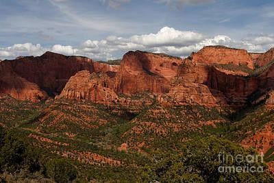 Kolob Canyon Zion Np Print by Scott Nelson